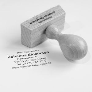 Stempel der Kanzlei Einarsson