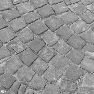 Straße aus Kopfsteinpflaster